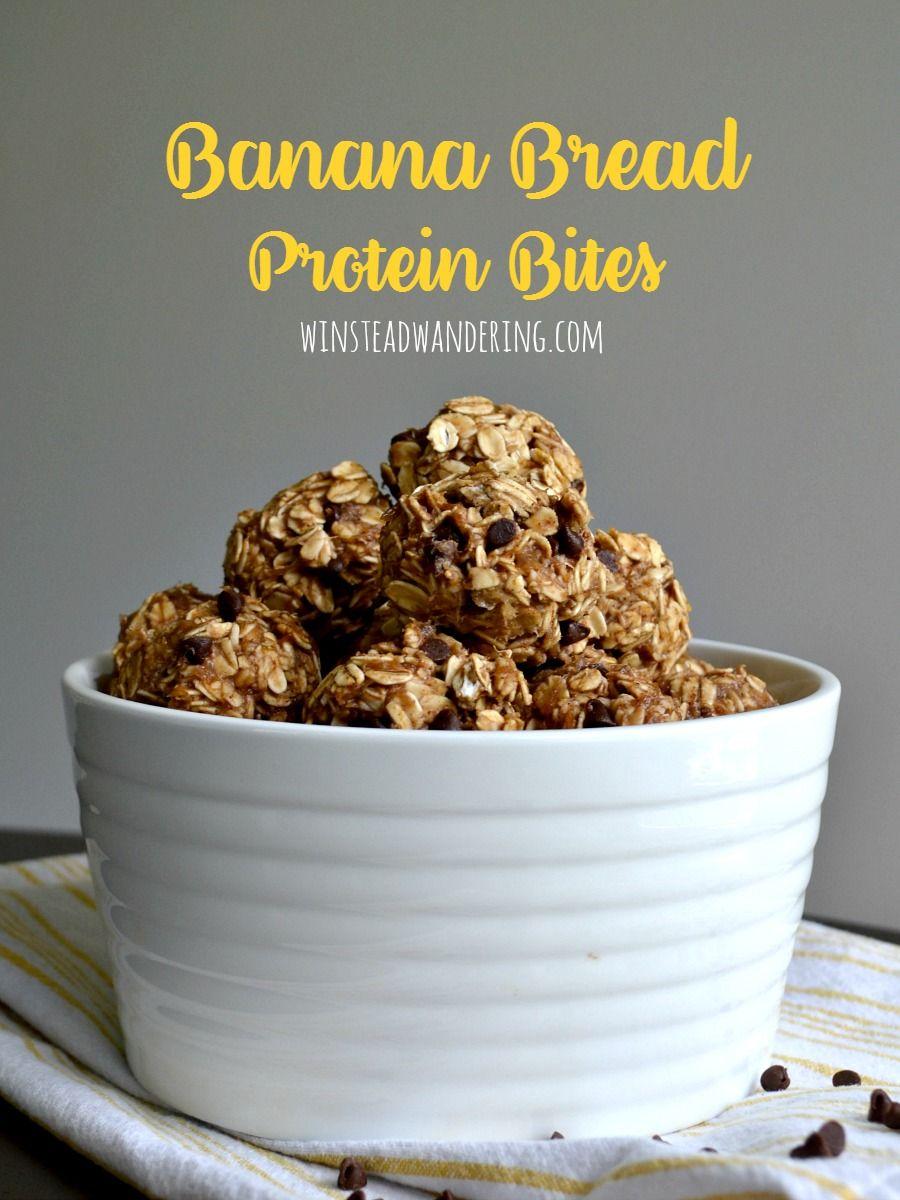 Banana bread protein bites winstead wandering protein