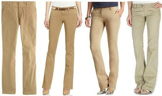 tan khaki pants for women - Pi Pants