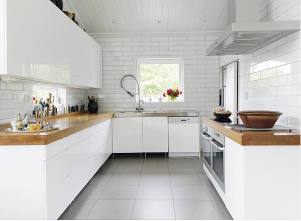 white kitchen #kitchen #design cabinets, island, countertops,  kitchen accessories,  #modular handles, flooring, backsplash,  open plan, tiles, # cucine breakfast counter, built-in appliances #interior design