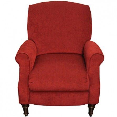 Gallery Furniture LANE CHLOE BURGUNDY HI-LEG RECLINER - LAZY BOY