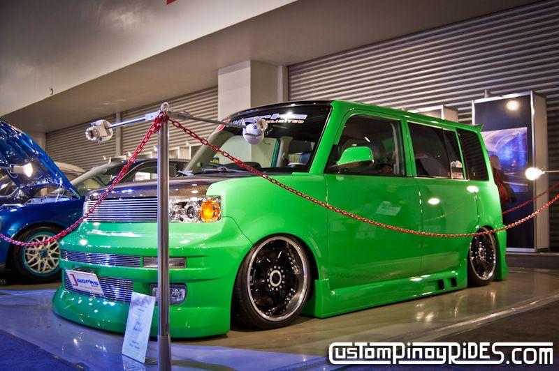 Bagged Green Scion Xb By Jworks Scion Xb Scion Toyota Scion Xb