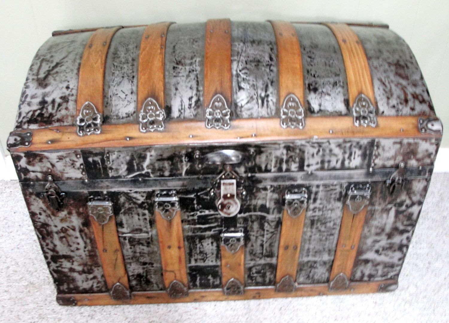 This Item Is Unavailable Camelback Steamer Trunk Wooden Slats
