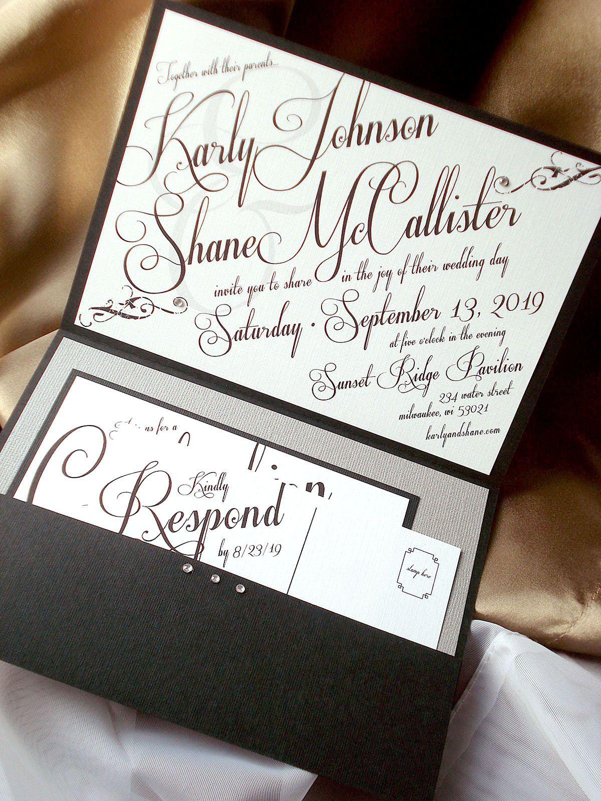 Art Deco Wedding Invitation, Great Gatsby Wedding Invitation ...