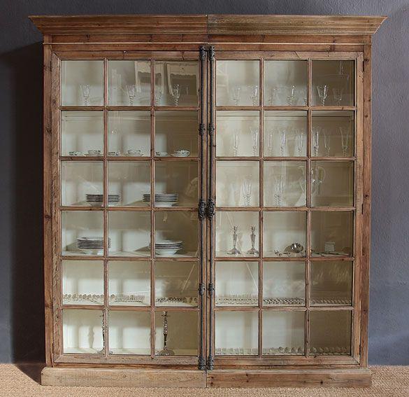 Vitrinas de madera para una sala comedor   para más información ...
