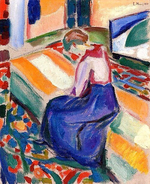 ✉ Biblio Beauties ✉ paintings of women reading letters & books - Edvard Munch