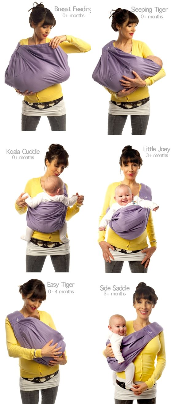 baby sling positions