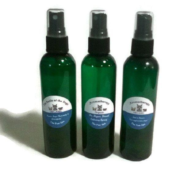 100% Natural DOG FLEA COLLAR Bandana W/ 5 Oz Safe Spray