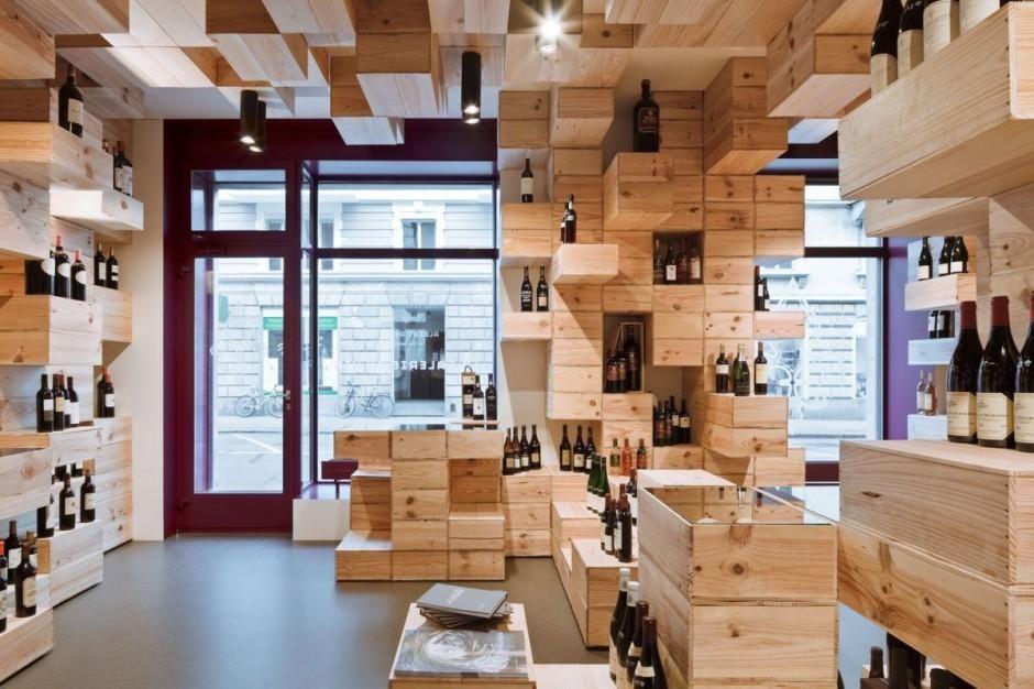 Vinoteca en z rich dise o interior vinoteca pinterest - Vinotecas de madera ...