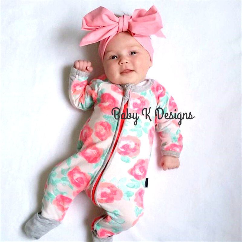 Newborn Head Wrap Pink Baby Headwrap Headband Bow