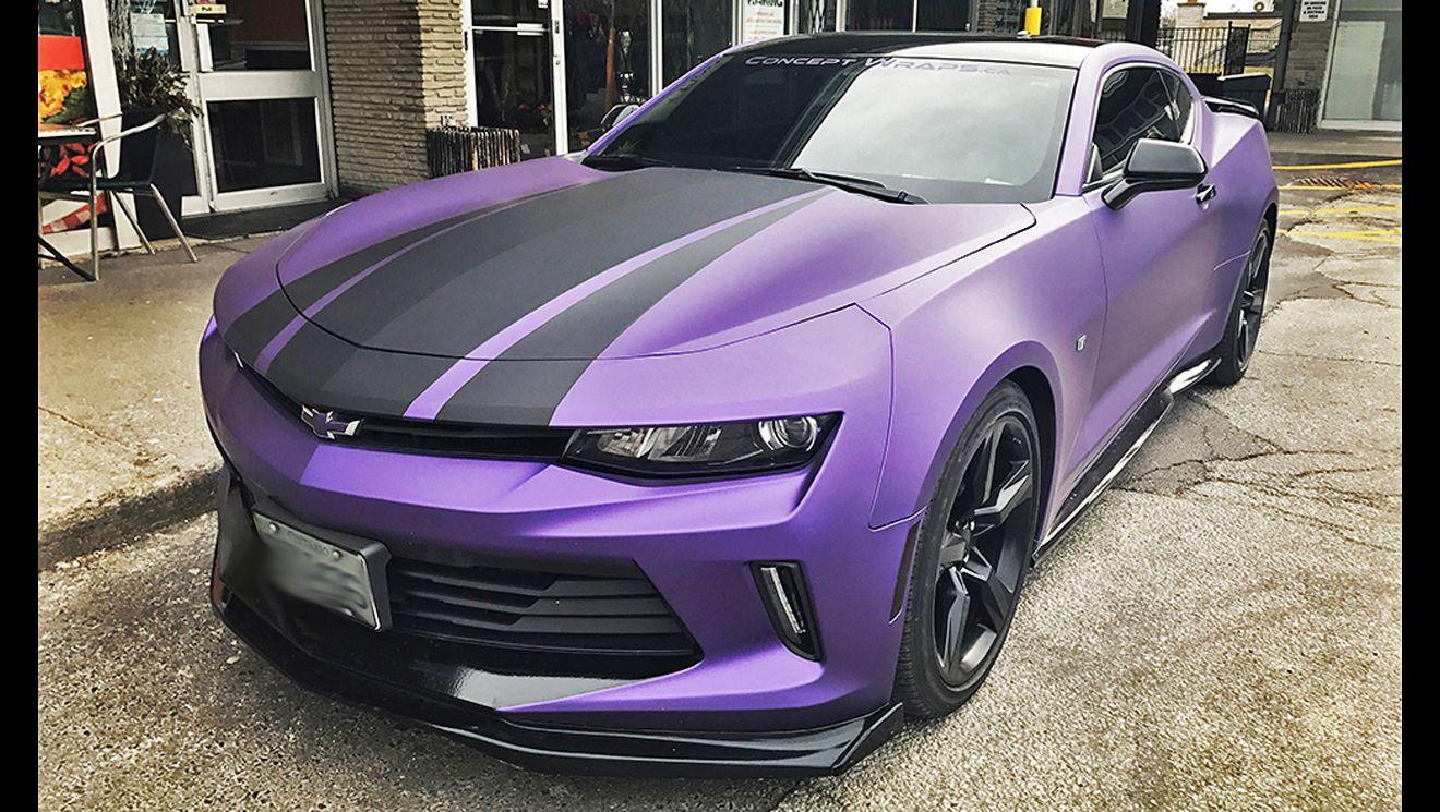 Camaro Matte Purple Metallic Yellow camaro, Camaro