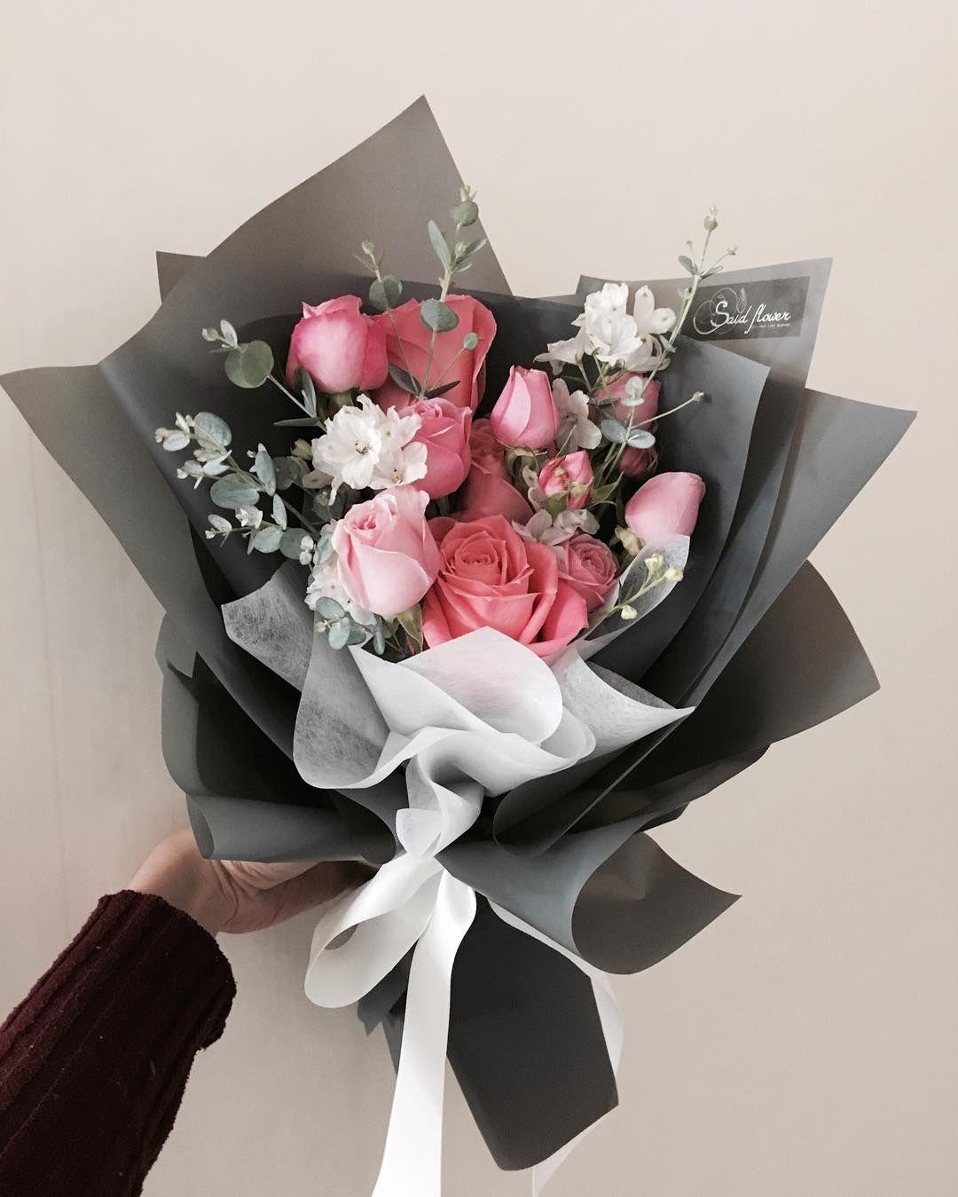Букет розовых, красиво упаковать букет
