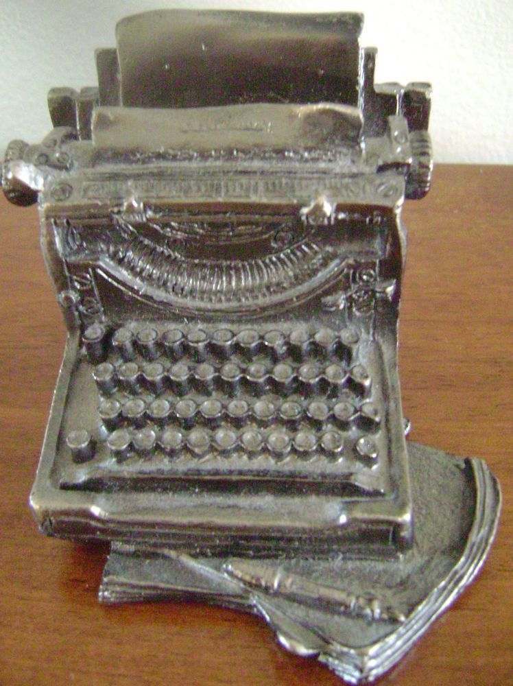 Manual Typewriter Business Card Holder Metal Paperweight Hunt and ...