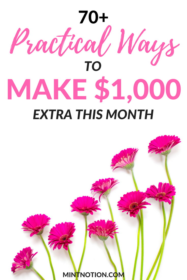 Make extra money. Side hustles. Save money. Increase your income ...