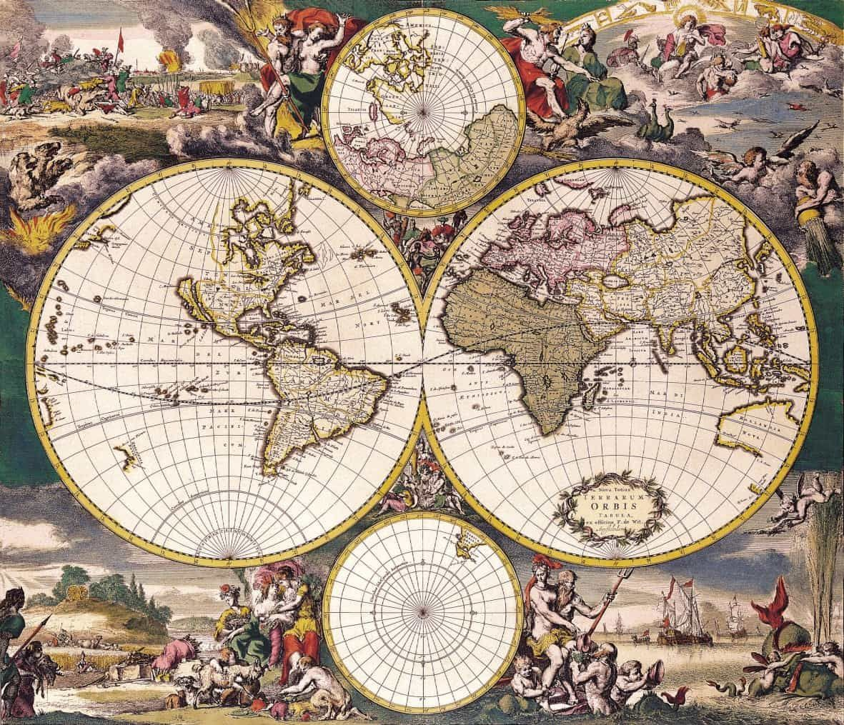 Ancient map 1690 nova totius terrarum orbis tabula ancient ancient map 1690 nova totius terrarum orbis tabula ancient antique atlas classic gumiabroncs Image collections