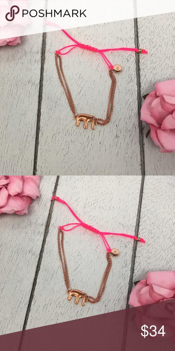 Stella and Dot Elephant Stella and Dot elephant adjustable good luck bracelet. Stella & Dot Jewelry Bracelets
