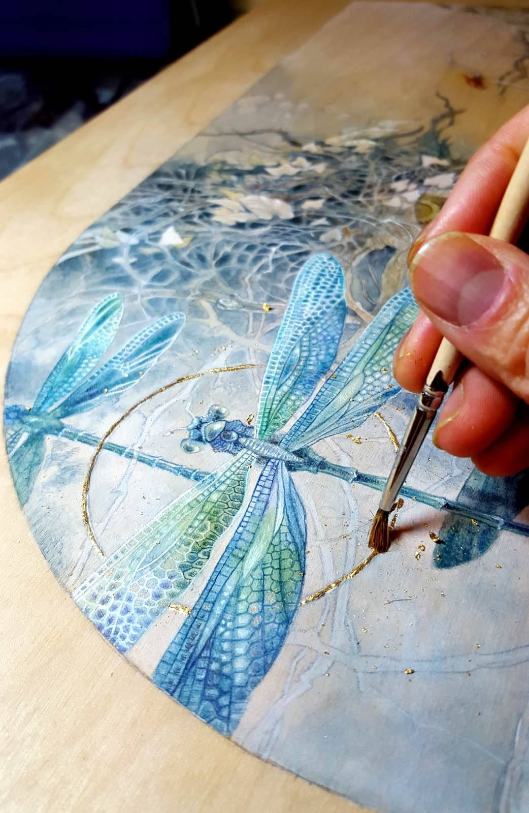 Pin By Sharon Serwinowski On Painted Zebra Dragonfly Art