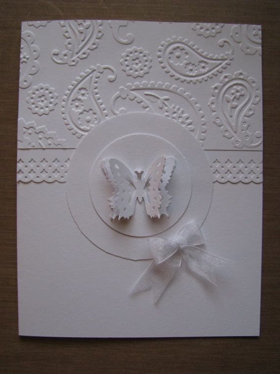 Making embossed cards google search cards 2 pinterest items similar to butterfly embossed all white handmade greeting card on etsy m4hsunfo