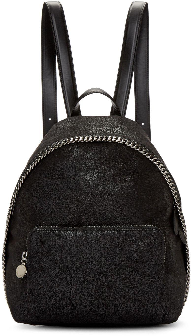 a87b350f77e Stella McCartney - Black Falabella Shaggy Deer Small Backpack