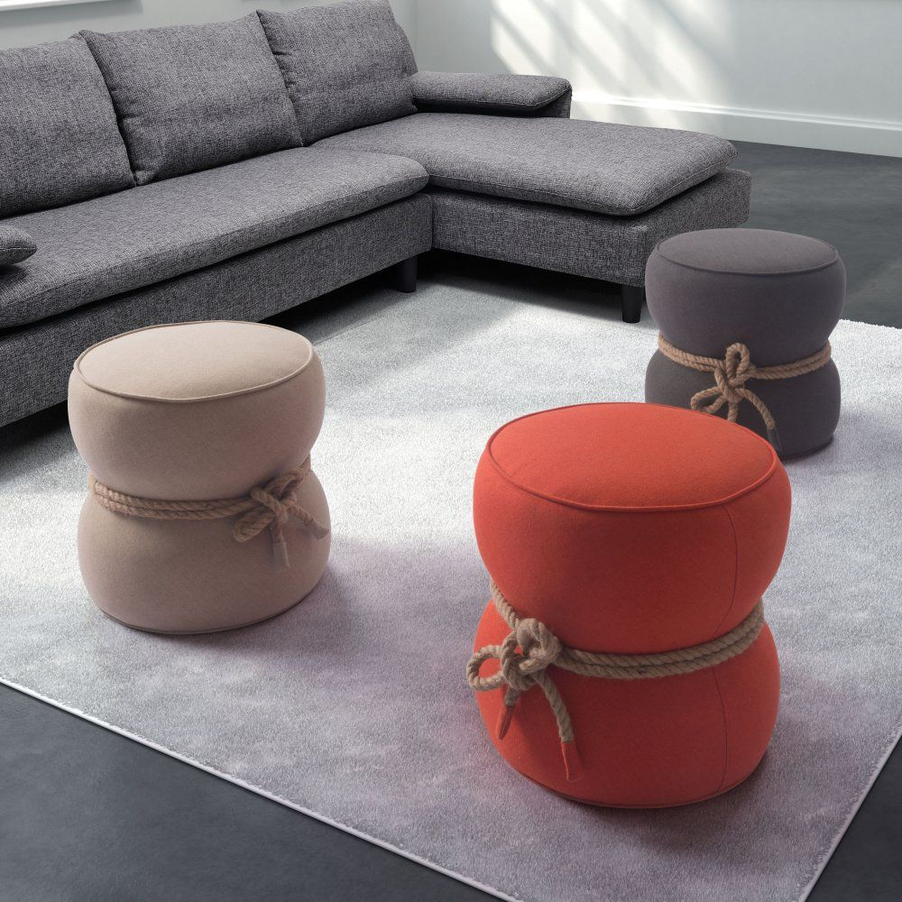 zuo modern tubby pouf ottoman whether grouped together or as a