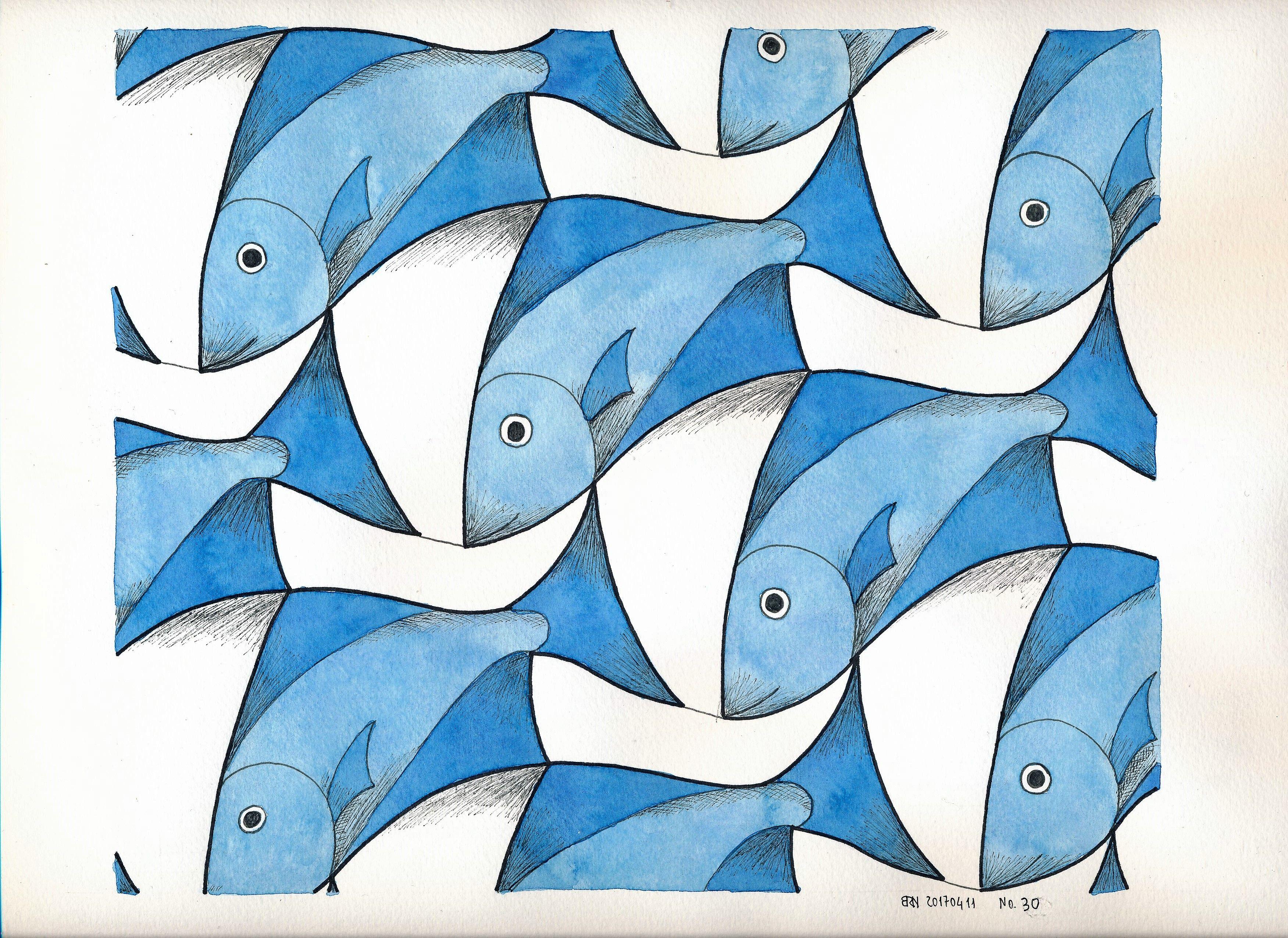 Escher 30 Symmetry Geometry Tessellation Tiling Handmade Structure Wallpaper Escher Fish Boat Mathart Regolo54 Arte Artistas Articulos