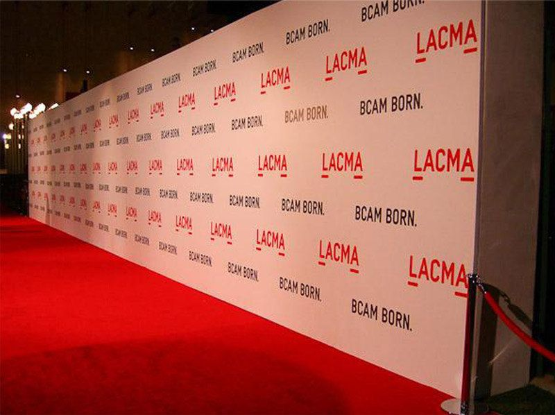 Red Carpet Backdrop - Custom (Your Logos) Step And Repeat Red ...