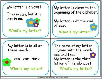 Alphabet Riddles Lettering Alphabet Readers Workshop Kindergarten Lettering