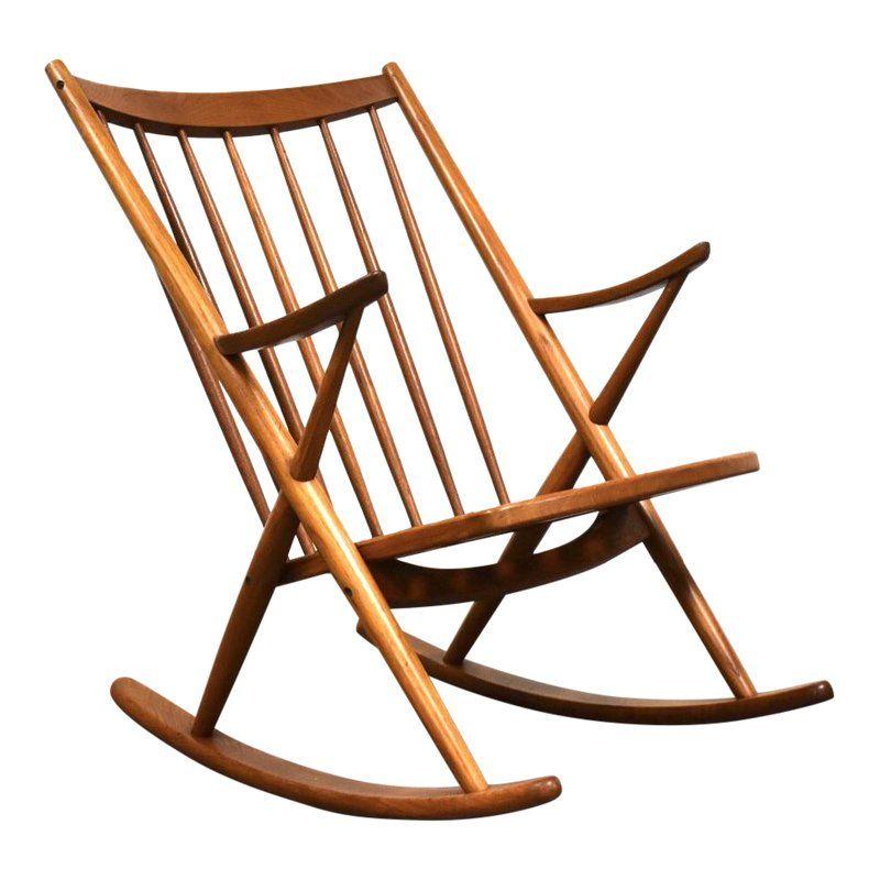 Enjoyable Frank Reenskaug Danish Teak Rocking Chair In 2019 Rocking Beatyapartments Chair Design Images Beatyapartmentscom