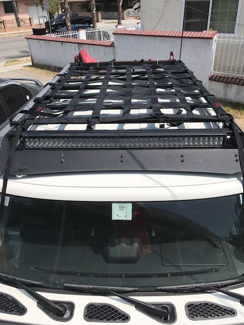 50x66 Raingler Roof Rack Net On An Fj Cruiser Prinsu Designs Rack Fj Cruiser Toyota Fj Cruiser Cruisers