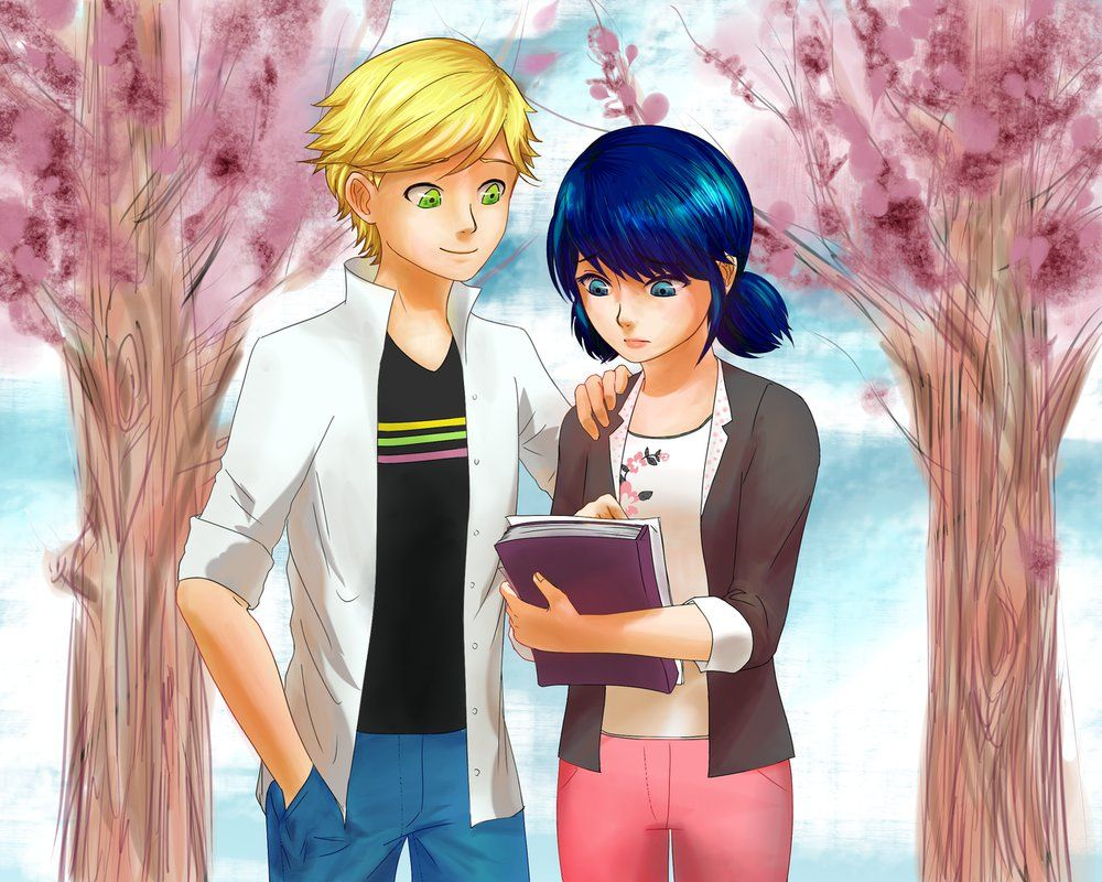 Marinette Failed a Test. She might not have that A but she still got the bae! (by tigeatoray, Miraculous Ladybug, Marinette, Adrien)