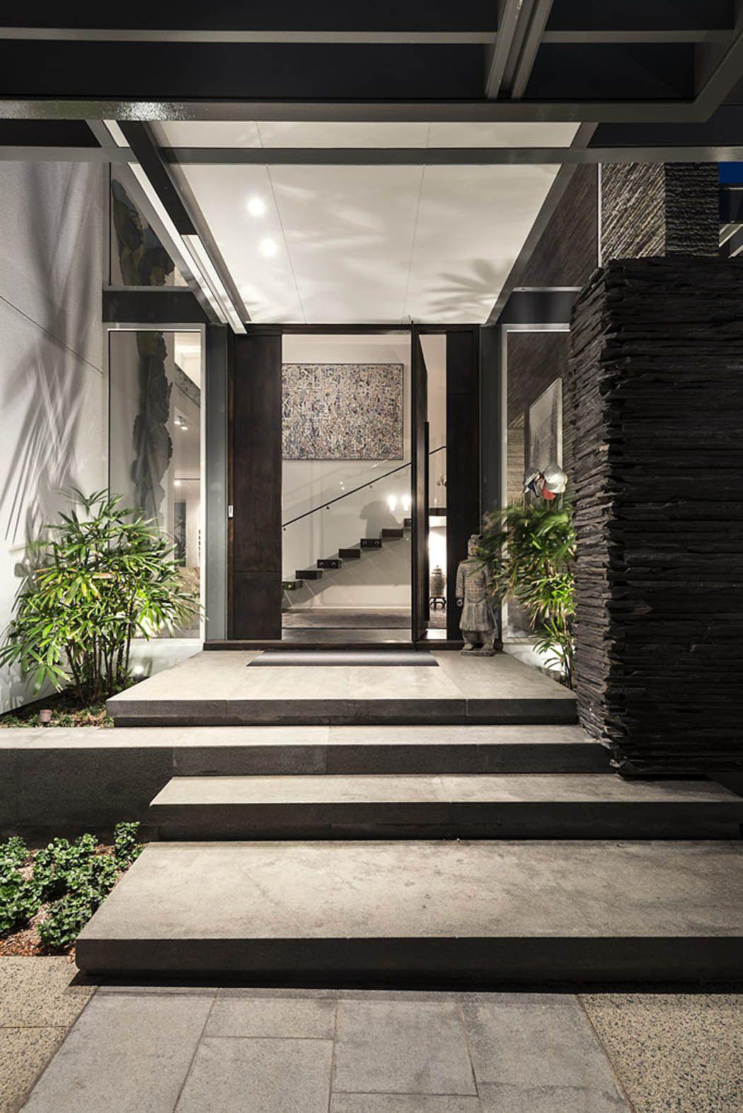 Entrée Moderne Maison avec entrée moderne maison | entrée de maison | pinterest | architekten