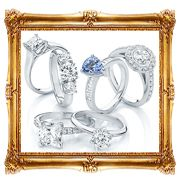 Solitaire diamond rings and vintage engagement rings in platinum #rings