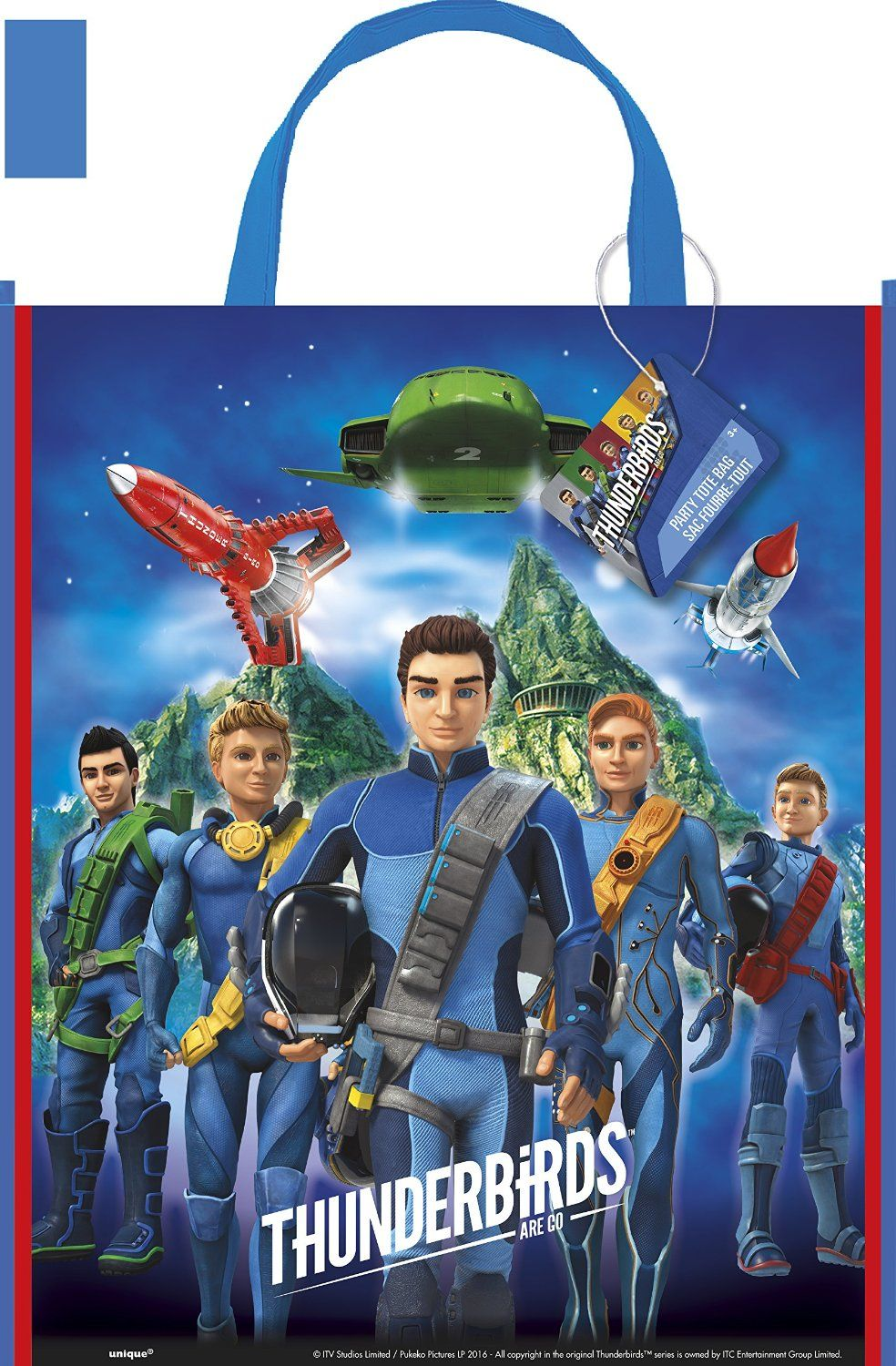 Thunderbirds Are Go Large Party Favor Tote Bag