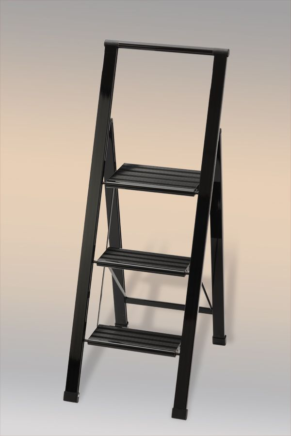 alu leiter designer trittleiter aluminium leiter talida 3 von hausmann germany der. Black Bedroom Furniture Sets. Home Design Ideas