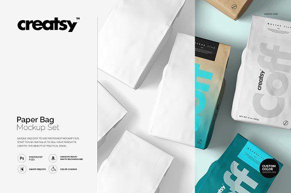 Download Paper Bag Mockup Set Bag Mockup Paper Mockup Mockup