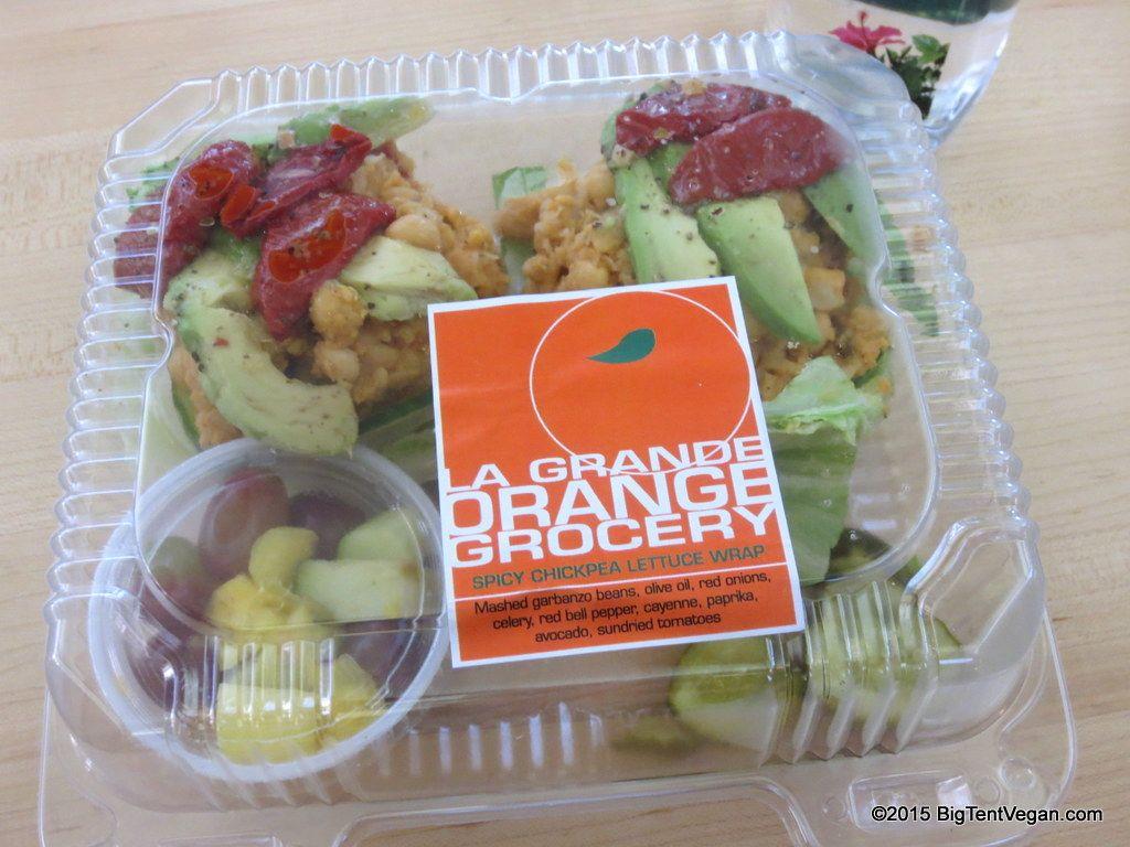 Spicy Chickpea Lettuce Wrap La Grande Orange Phoenix Sky Harbor Airport Phx Terminal 4 Vegan Chickpea Lettuce Wraps Whole Food Recipes Lettuce Wraps