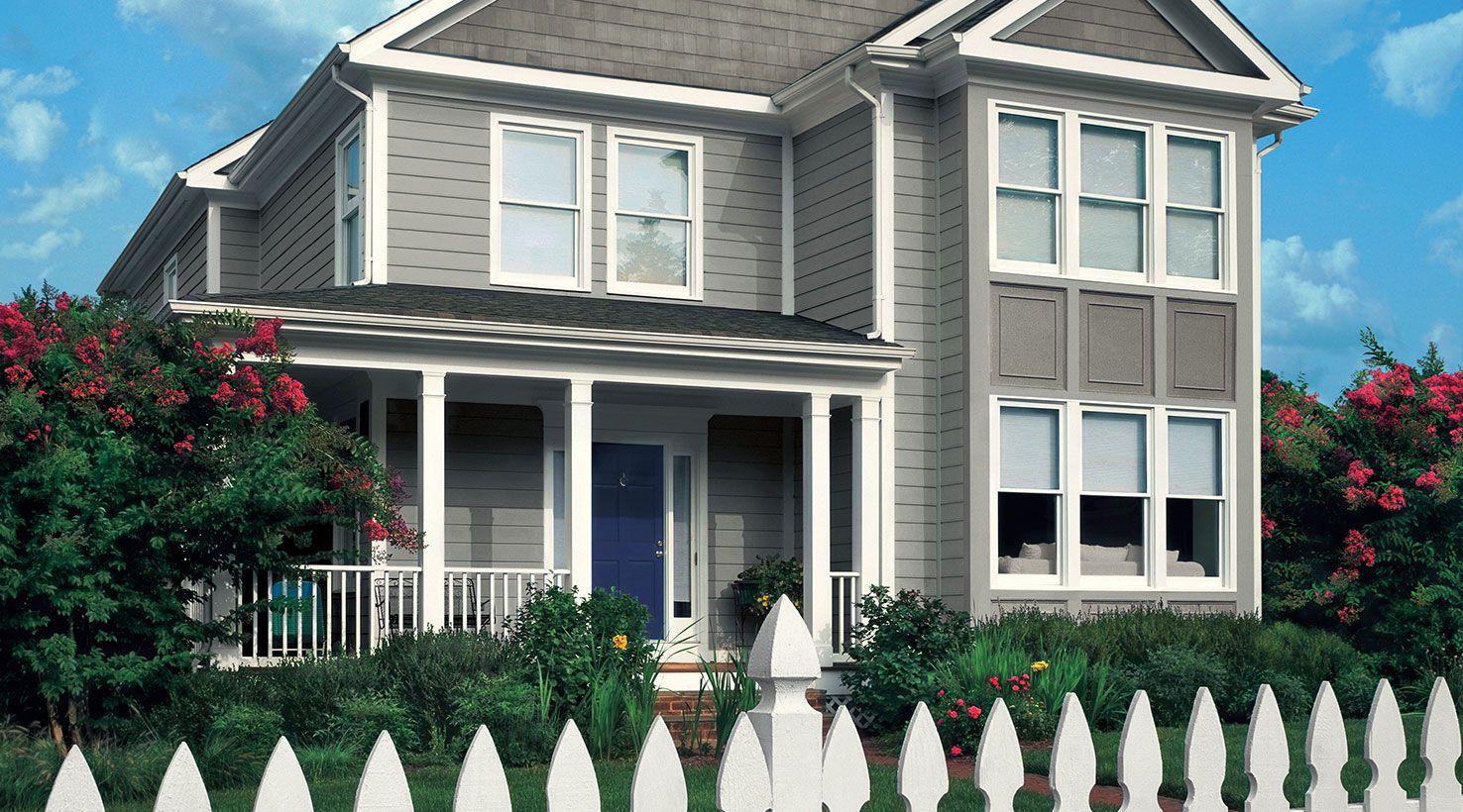 Sherwin Williams Sensible Hue House paint exterior