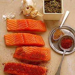 Chile-Rubbed Salmon with Papaya and…