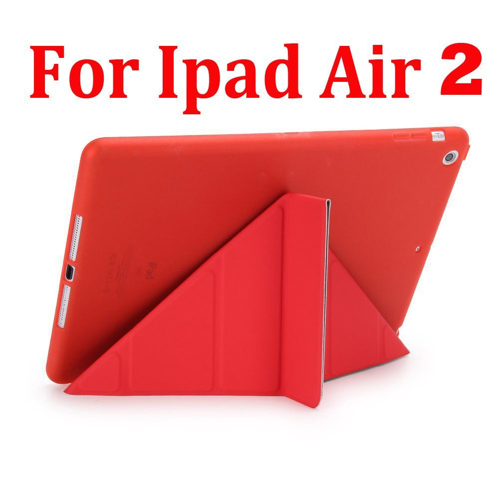 Case For Ipad Pro 9.7 inch Ipad Air 2 PU Leather Smart Cover 5 Shapes Stand Soft TPU Silicon Case for ipad 6 7 Auto Sleep/Wake