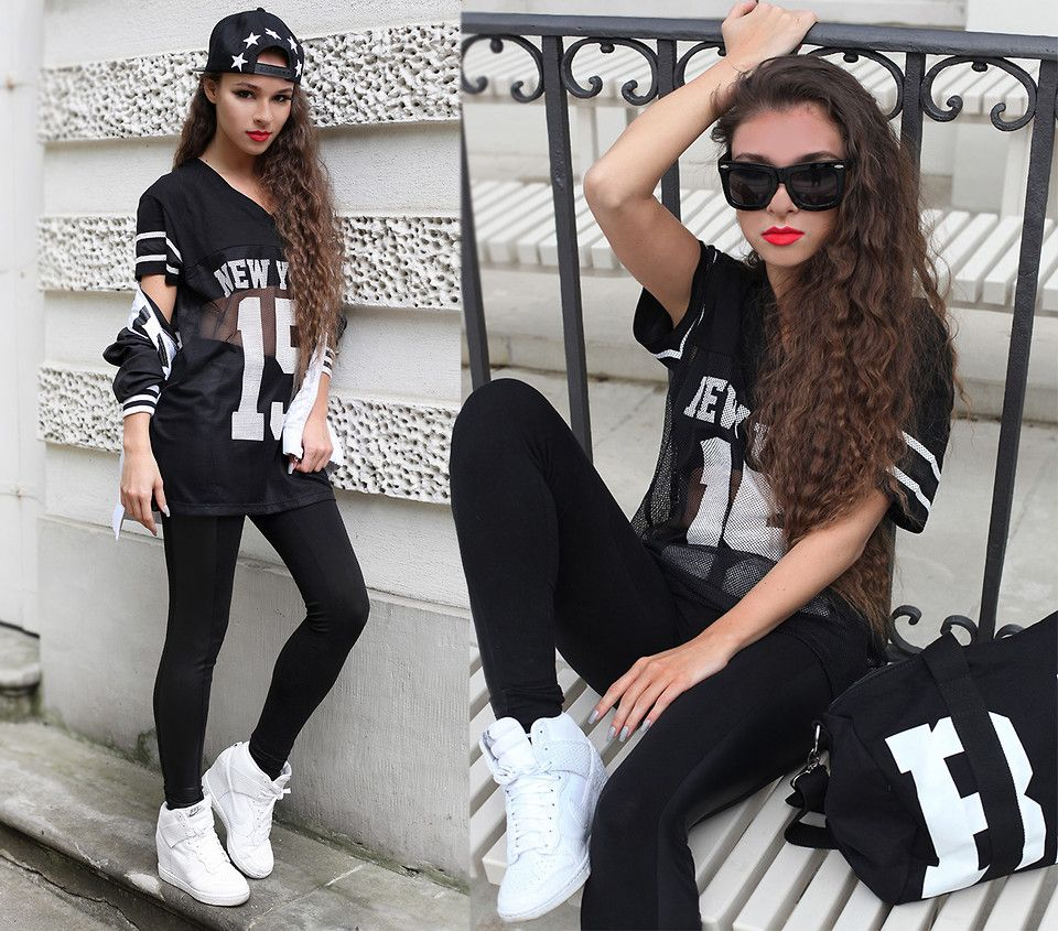 Nikes for girls black and white dress