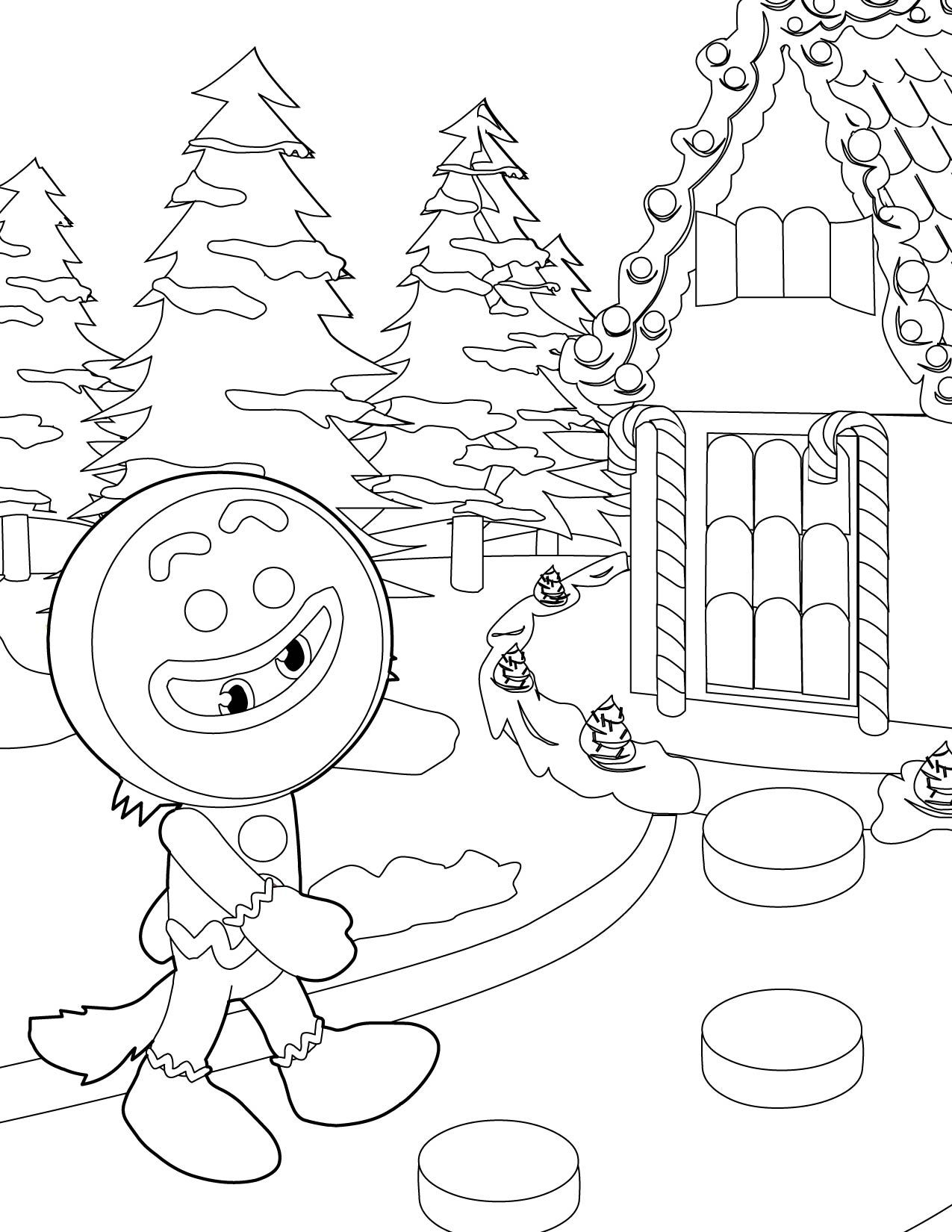 gingerbread houses coloring pages - Gingerbread Man House Coloring Pages