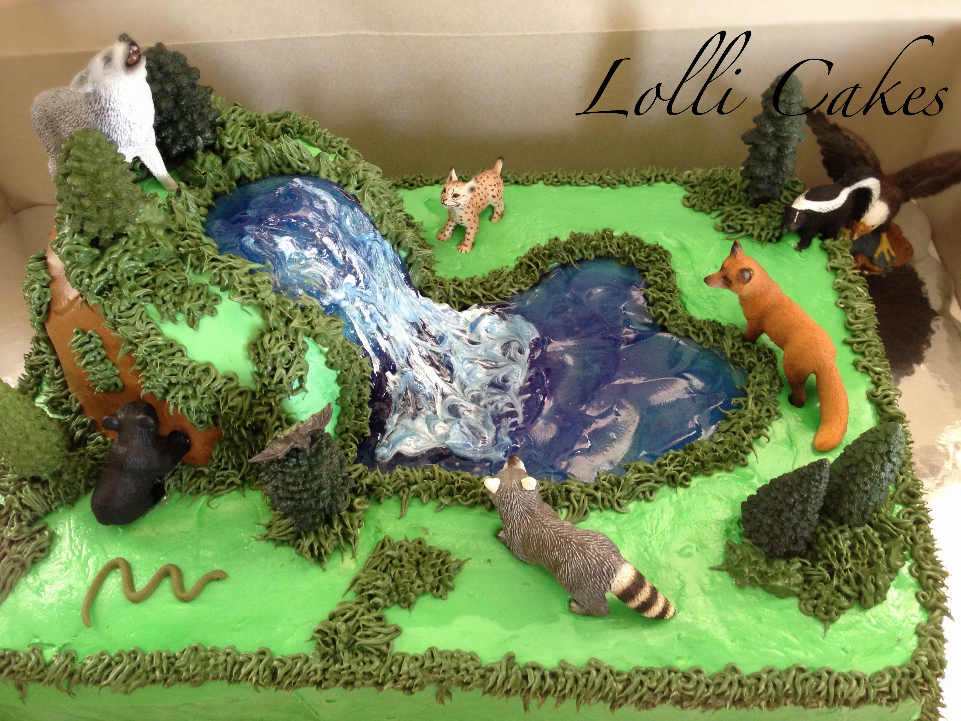 Terrific Wildlife Cake Facebook Com Tangledcrochetandlollicakes Funny Birthday Cards Online Benoljebrpdamsfinfo