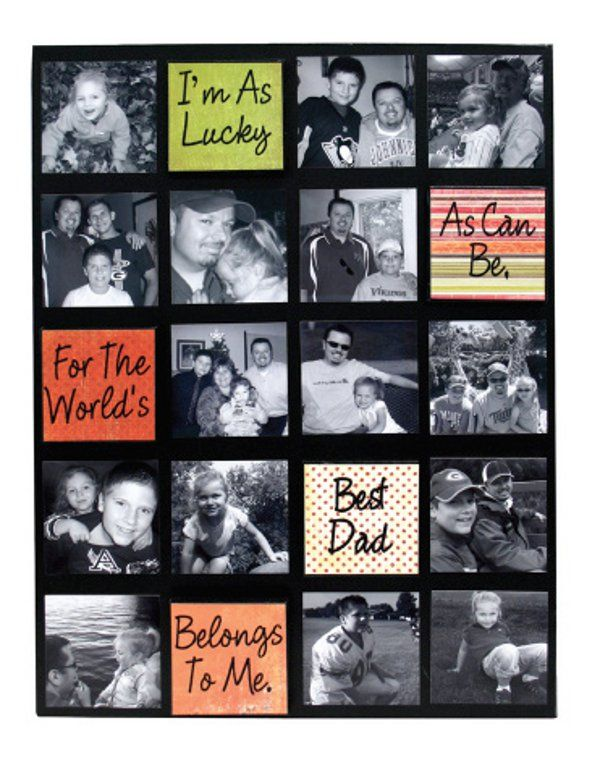 Personalised for you Fathers Day Collage Canvas Photo Picture Gift