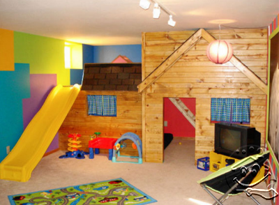 Basement Children Playroom So Cool!