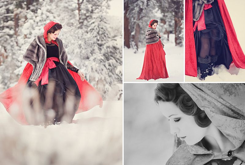 Fairy Tale photo shoot:  Little Red riding hood