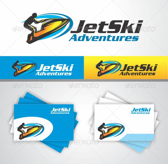 jet ski adventures — vector eps #ski #adventures • available here