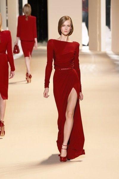 Elie Saab. Love this red dress!