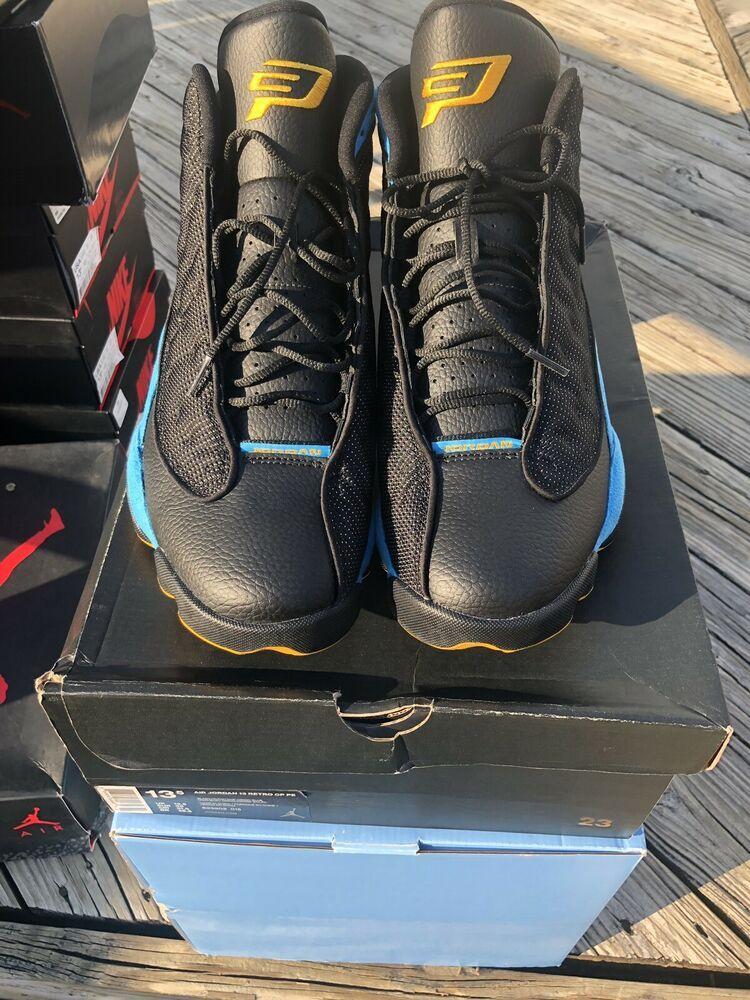 on sale 68e33 b1066 New Size 13.5 Nike Air Jordan 13 CP3 BLACK BLUE Home 823902 015 SUPER RARE!
