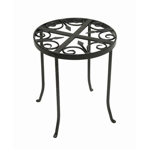 Achla Designs Round Trivet Wrought Iron Plant Stand Vtt 01