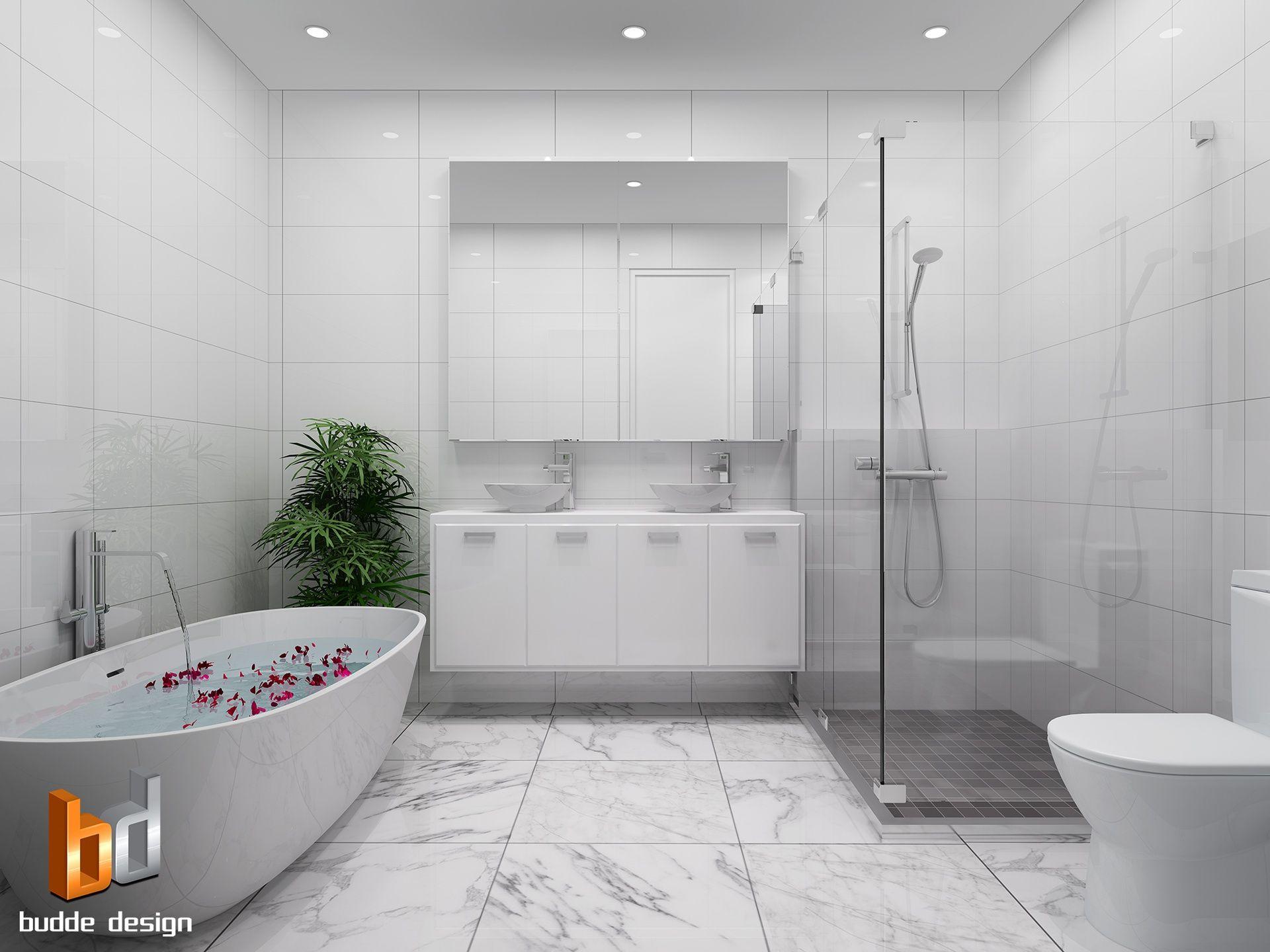 3D Internal Render Bathroom Mt Martha Victoria Apartment Unit Townhouse Interior Cross Section