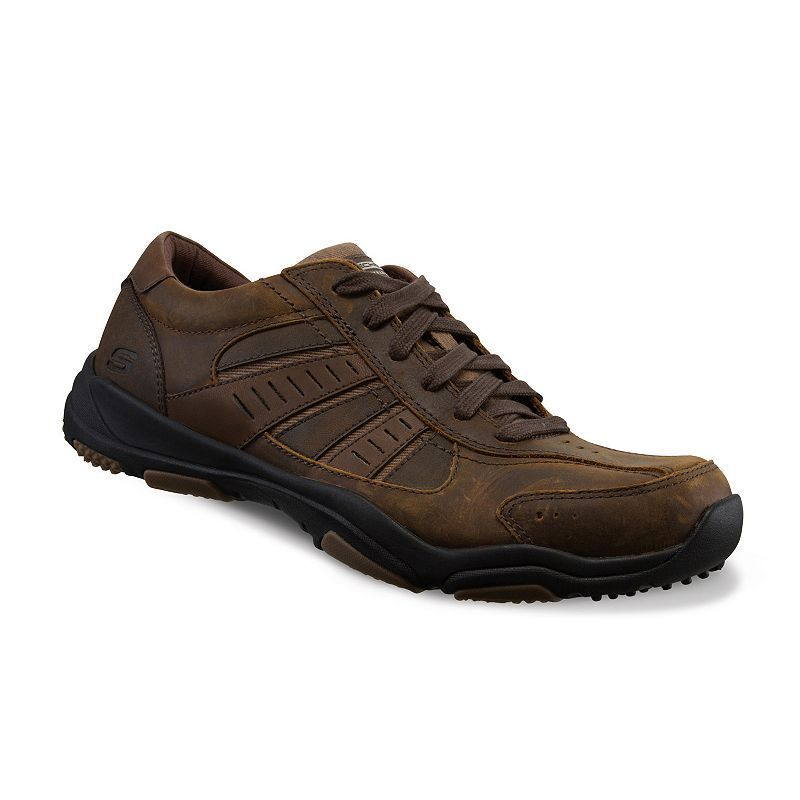 Skechers Diameter Murilo Dark Brown Mens Leather Traienrs Shoes-10 qy7wJBi9Q